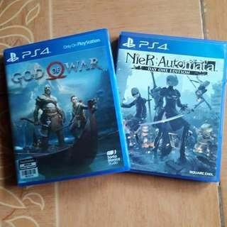 [PS4 Games] God of War(R3) and Nier Automata Day One Ed.(R2)