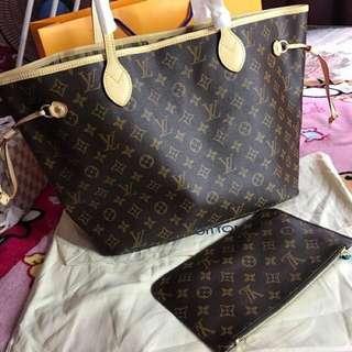 Sale! Brandnew Premium Quality Louis Vuitton Neverfull with Wrislet Bag