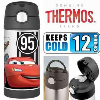 BN: Thermos Funtainer Stainless Steel Disney Pixar Cars Straw Water Bottle, 300ml