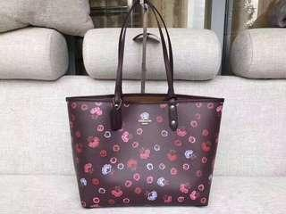 Coach Reversible Tote with primrose floral