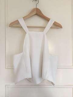 Maurie and Eve white singlet top