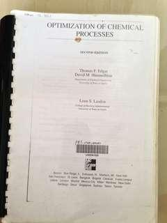 Optimization of Chemical Process (2nd Edition) Photostate
