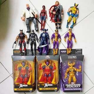 Assorted Marvel Legends figures