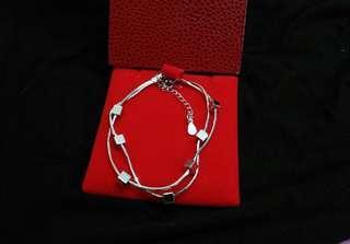 Sale ~ 全新 S925 純銀 Sterling Silver 銀鏈 layers 手鏈 Bracelet