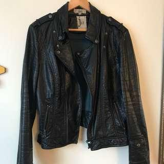Black Leather Jacket(vegan)
