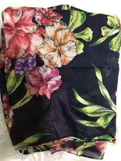 H&m Floral Printed Shawl