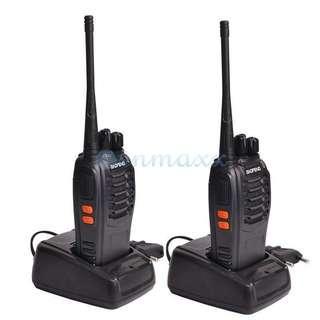 🚚 2x Baofeng BF-888S UHF 400-470MHz 5W Handheld Two-way Ham Radio HT Walkie Talkie