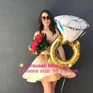 Giant Ring Balloons/Wedding Proposal Balloons💍🎈 / Will you marry me balloons 👰🏼🤵/ Hens Night / I love you balloons 💑🎈(Ready Stock) ✨