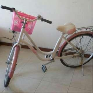 lady bike bicycle with basket rear rack Excellent riding condition