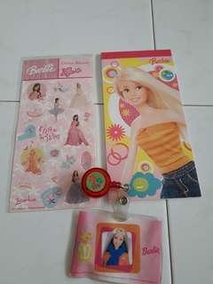 Barbie notebook etc