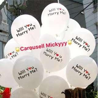 Will you marry me balloons 👰🏼🤵/ Hens Night / Giant Ring Balloons/Wedding Proposal Balloons💍🎈 I love you balloons 💑🎈(Ready Stock) ✨