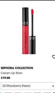 Sephora 03 Strawberry Kissed - Cream Lip Stain