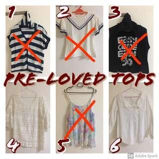 Pre-Loved Ladies Tops