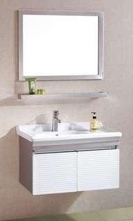 stainless steel bathroom cabinet set