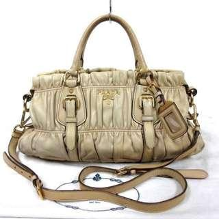 AUTHENTIC Prada Nappa Leather 2 Way Shoulder Bag - (RETAILS OVER RM 4000+) - [ preorder item ]