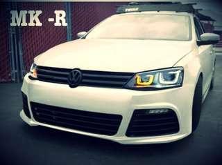 VW Jetta R-style front bumper