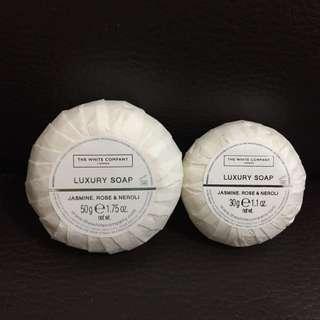 THE WHITE COMPANY (London) LUXURY SOAP - JASMINE, ROSE & NEOROLI (30g or 50g/1.75oz)