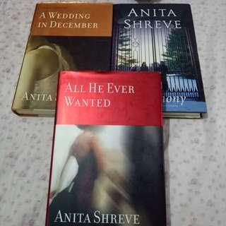 Anita Shreve Books (Hardcover)  - Lot of 3