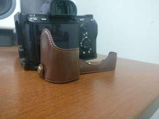 A7r3 A7iii A9 leather grip case