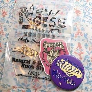 結他襟章貼紙Set | Guitar Badge & Sticker Set