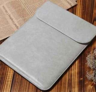 INSTOCKS Korea Leather Slim Laptop Computer Sleeve Casing Slip In Case