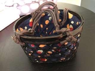 全新UNIQLO籐籃袋