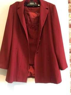 Blazer coat with top inner embroidery