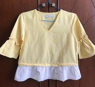 Cotton Ink blouse / atasan kuning