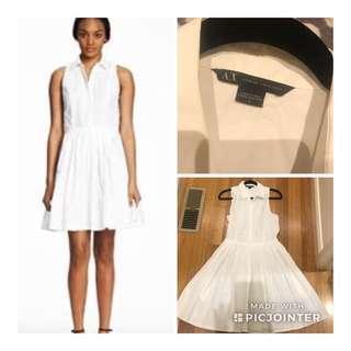 Armani exchange white crepe shirt dress size 8 US 12 Aus