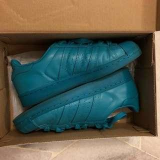 💯 authentic Adidas Superstar Supercolor Pharrell Teal