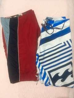 Authentic Billabong Boarshorts + Free Reversible boardshorts