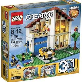 Lego Light Brick 31012 Creator Family House 3-in-1