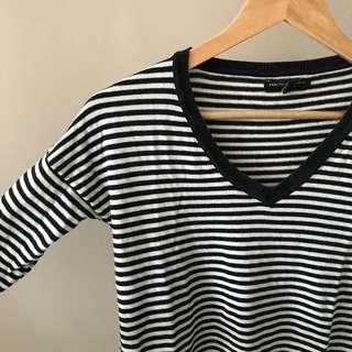 MANGO MNG stripes top