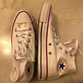 💯 authentic Converse All Star Hi Optical White
