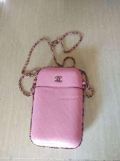 Chanel round celpon holder authentic