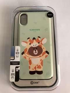 iPhone X LINE Friends Jungle Brown G.Brown Case
