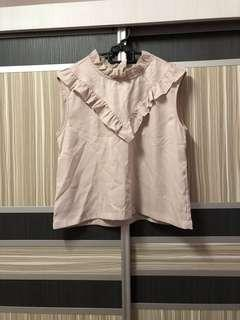 Nude top for blazer