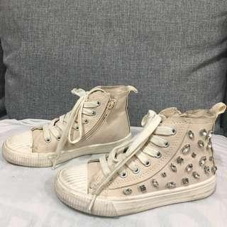 Zara kids high cut bejeweled shoes