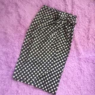 Zara look alike polka skirt fit S-L