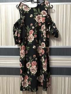 Off shoulder top blouse floral