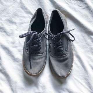 Vans gray gumsoles shoes