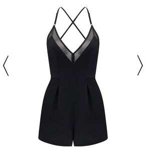 Kendal & Kylie x Forever New Mesh Insert Playsuit