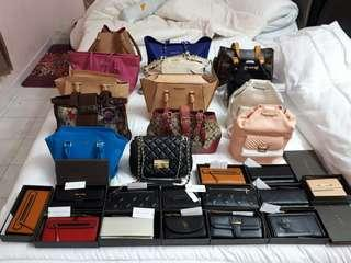 Original branded bags and purse