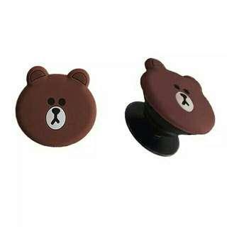Line Brown Pop Socket