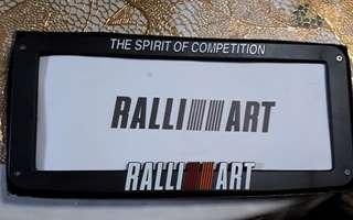 Mitsubishi Ralliart carplate