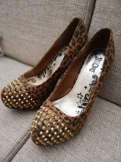 [Pre-loved] Payless/Brash Leopard studded heels