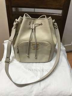 Authentic Nina Ricci Epi Leather Bucket Bag