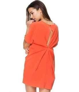 ZALORA Orange Loose Dress (used 1 times only, LIKE NEW)