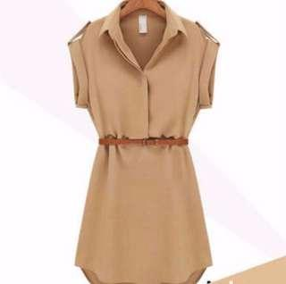 Trench Dress With Belt #3x100