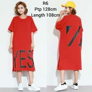 Oversize 'YES' Tee Dress